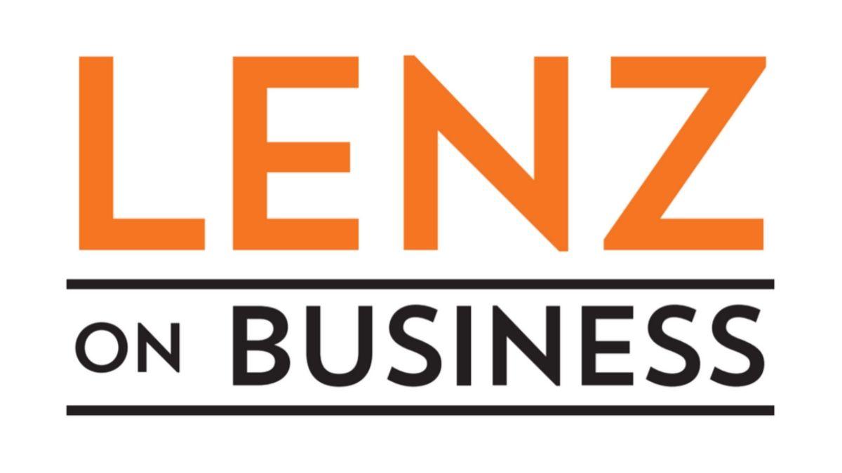 Logo of WSB's Radio's show Lenz on Business.