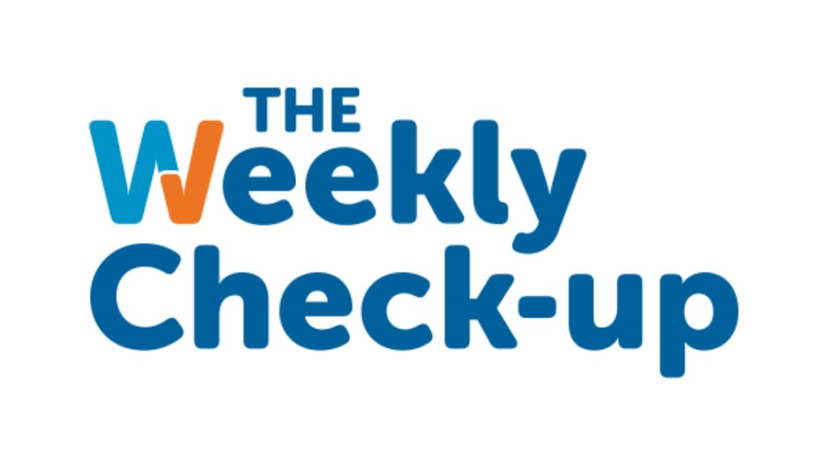 WSB's The Weekly Check Up radio show logo.