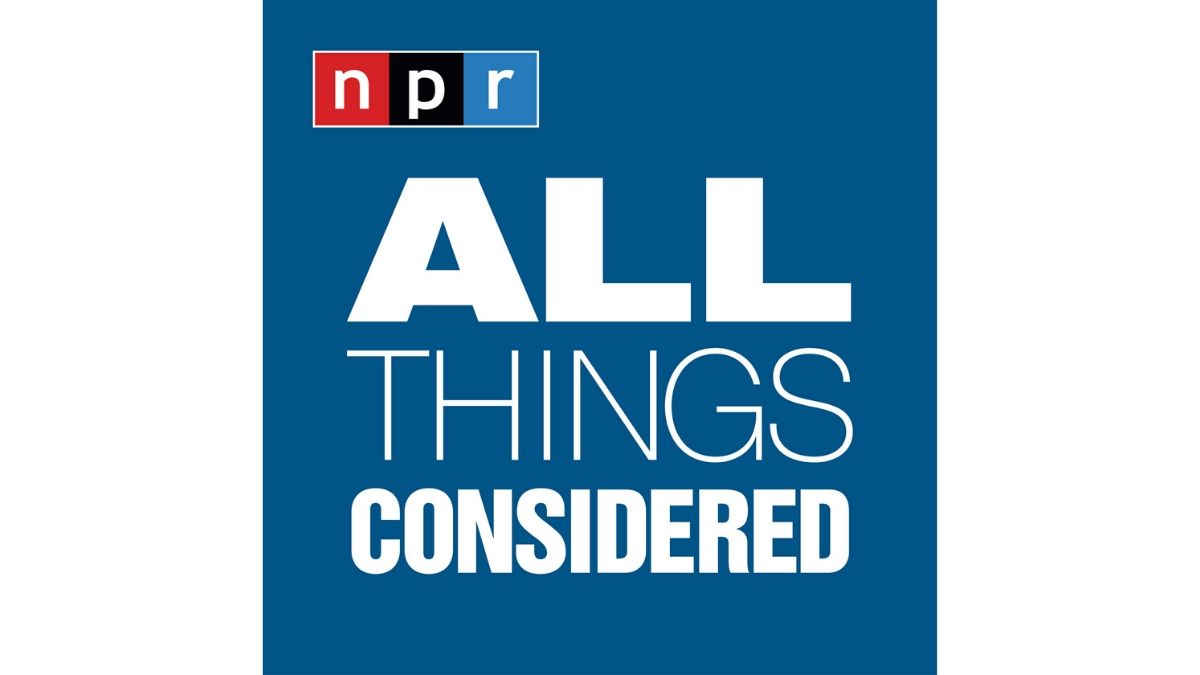 Logo of the National Public Radio's (NPR) All Things Considered Show