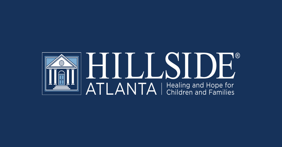 Hillside Atlanta logo. Tagline: Healing and Hope for Children and Families